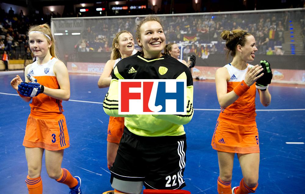 BERLIN - Indoor Hockey World Cup<br /> Quarterfinal 4: Netherlands - Czech Republic<br /> foto: ADANK Karlijn (GK).<br /> WORLDSPORTPICS COPYRIGHT FRANK UIJLENBROEK