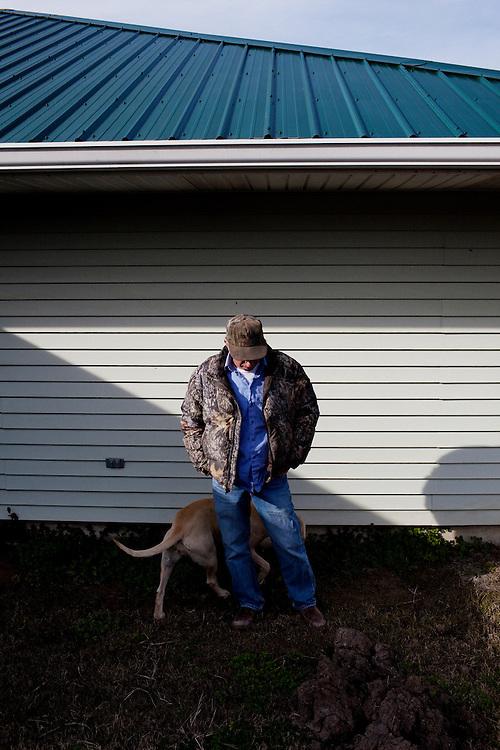 Dane Ledet Sr. stands outside of the Daneco Alligator Farm office in Houma, Louisiana on Friday, February 19, 2010.