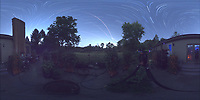 Summertime Night Sky over New Jersey (360 Equirectangular Panorama). Composite of images (23:00-23:59) taken with a Ricoh Theta Z1 camera (ISO 400, dual 2.6 mm fisheye lens, f/2.1, 60 sec). With image alignment in Photoshop CC (scrips,statistics, maximum, align images)