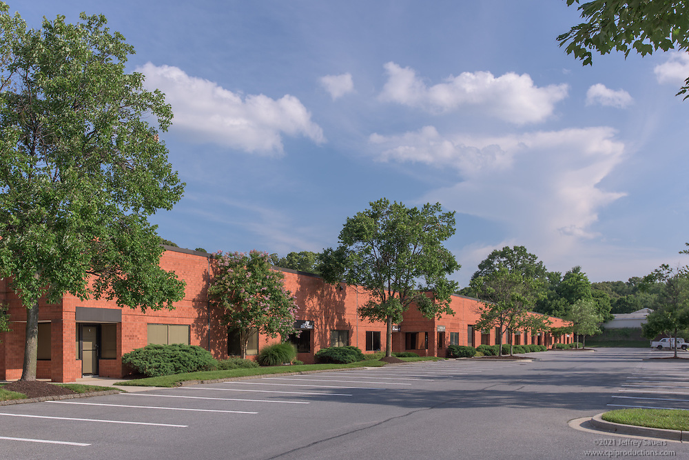 Exterior photo of BWI Plaza Office Park in Maryland by Jeffrey Sauers of Commercial Photographics, Architectural Photo Artistry in Washington DC, Virginia to Florida and PA to New England