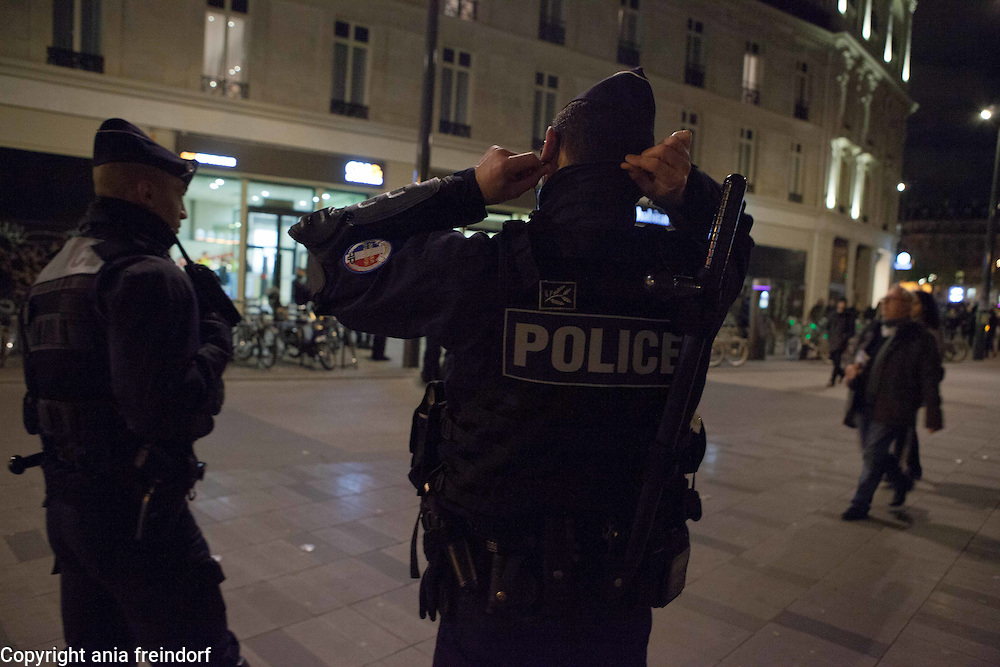 After Paris terrorist attacks French Police protects the capital.