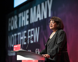 © Licensed to London News Pictures . 24/09/2017. Brighton, UK. DIANE ABBOTT speaks at the conference . The first day of the Labour Party Conference in and around The Brighton Centre . Photo credit: Joel Goodman/LNP