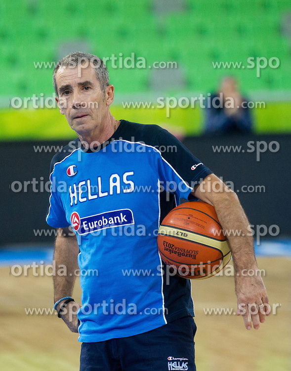 … assistant coach during training of National team of Greece before Round 2 at Day 7 of Eurobasket 2013 on September 10, 2013 in Arena Stozice, Ljubljana, Slovenia. (Photo by Vid Ponikvar / Sportida.com)