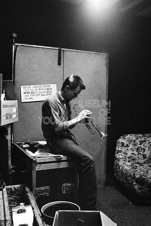Carl Chas Smash of Madness rehearsing. Halligan's London 1981