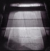 Otis escalator at the Newark, NJ airport.