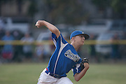 Cherry Hill's Joey Paolini throws a pitch during a Section 4 Little League final against Cherry Hill held in Gloucester Sunday night.
