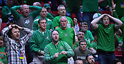 SAN DIEGO, CA - MARCH 16:  Marshall Thundering Herd fans react to a play during a first round game of the Men's NCAA Basketball Tournament against the Marshall Thundering Herd at Viejas Arena in San Diego, California. Marshall won 81-75.  (Photo by Sam Wasson)
