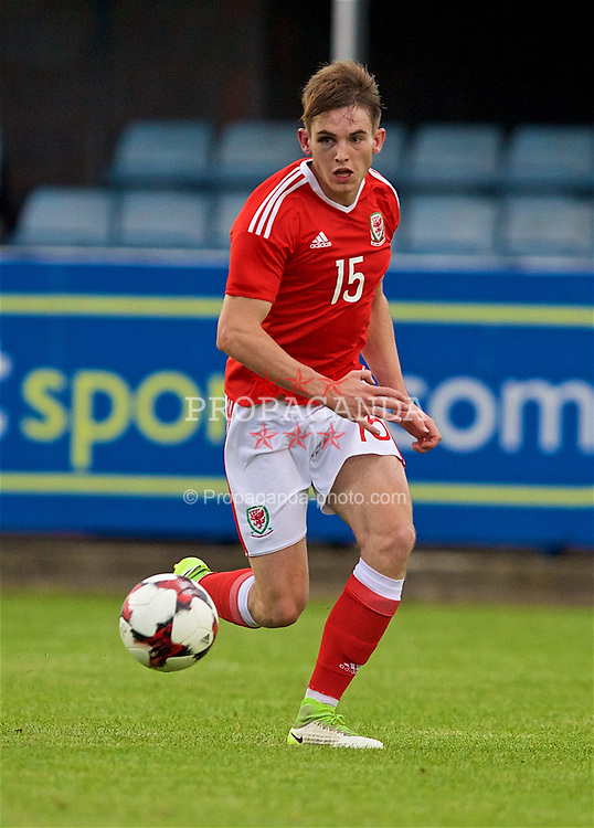RHYL, WALES - Monday, September 4, 2017: Wales' Rhys Norrington-Davies during an Under-19 international friendly match between Wales and Iceland at Belle Vue. (Pic by Paul Greenwood/Propaganda)
