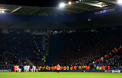 Club Brugge players thank their fans at full time - Mandatory by-line: Matt McNulty/JMP - 22/11/2016 - FOOTBALL - King Power Stadium - Leicester, England - Leicester City v Club Brugge - UEFA Champions League