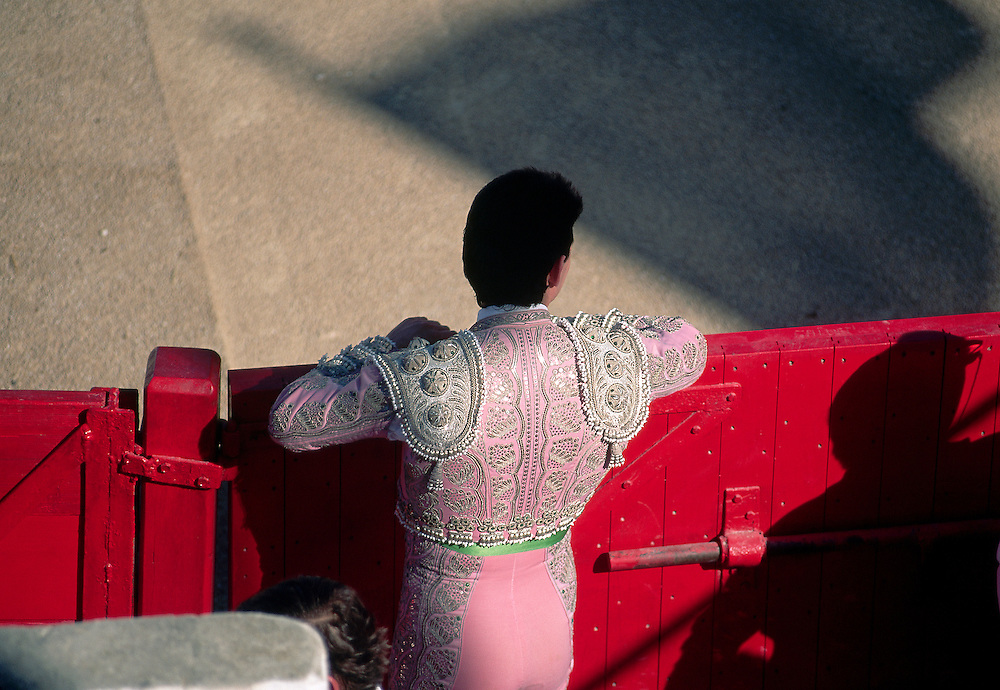 Bullfighter at arena in Le Camargue region of France