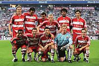 Fotball<br /> Bundesliga Tyskland<br /> 02.09.2008<br /> Foto: Witters/Digitalsport<br /> NORWAY ONLY<br /> <br /> oben v.l. Tim Borowski, Luca Toni, Massimo Oddo, Christian Lell, Breno, Ernesto Sosa<br /> vorn v.l. Ze Roberto, Lukas Podolski, Mark Van Bommel, Oliver Kahn, Philipp Lahm<br /> <br /> Abschiedsspiel Oliver Kahn Bayern München - Deutschland