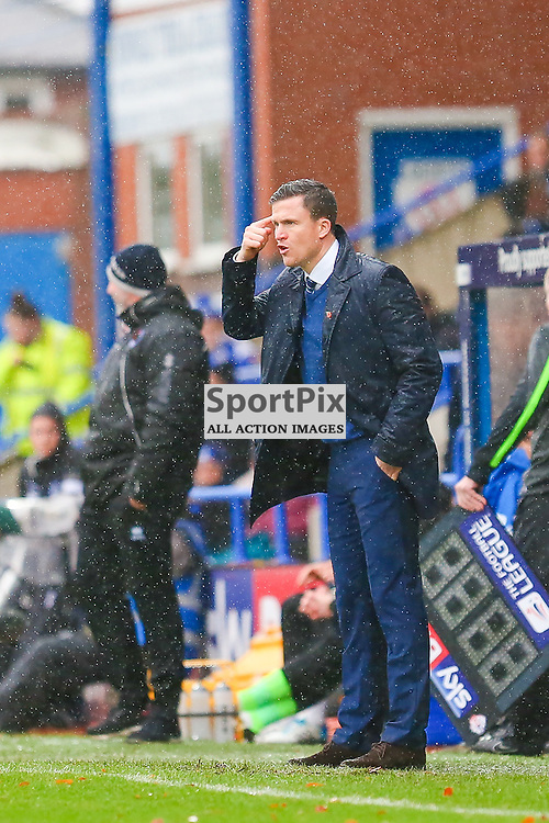 Gary Caldwell Wigan Atheltic Manager during Rochdale v Wigan Athletic , Sky Bet League One Match, 14 November 2015<br /> Picture by Jackie Meredith/SportPix.org.uk