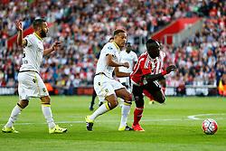Sadio Mane of Southampton breaks through Vitesse Arnhem defence - Mandatory by-line: Jason Brown/JMP - Mobile 07966386802 - 31/07/2015 - SPORT - FOOTBALL - Southampton, St Mary's Stadium - Southampton v Vitesse Arnhem - Europa League