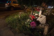 Anzio (Roma), 03/01/2014: lapide sulla via Nettunense in memoria di un incidente mortale - grave along the street in memory of a fatal car accident.