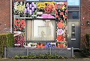 Nederland, Lent, 24-2-2017Kunstgevels in de Rolling Stones straat in Lent. Kunstenaars hebben aparte gevels ontworpen voor deze straat, de Rolling Stonesstraat. Opleuken van een woonbuurt in een vinexwijk van Nijmegen. De straten in dit deel van de wijk hebben namen van popgroepen.Foto: Flip Franssen