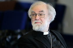 © Licensed to London News Pictures. 18/03/2012, London, UK.  Archbishop of Canterbury Rowan Williams speaks to the youth congregation of Springfield 'Fresh Expression' Church to celebrate the church 20th anniversary at Wallington High School for Girls, south London, Sunday, March 18, 2012. Rowan Williams this week announced that he would be standing down as the Archbishop of Canterbury at the end of the year. Photo credit : Sang Tan/LNP