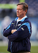 SAN DIEGO - JANUARY 03: Head Coach Norv Turner of the San Diego Chargers looks on during the AFC Wild Card playoff game against the Indianapolis Colts at Qualcomm Stadium on January 3, 2009 in San Diego, California. The Chargers defeated the Colts 23-17 in overtime. ©Paul Anthony Spinelli *** Local Caption *** Norv Turner