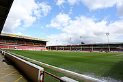 Besot Stadium before the Sky Bet League 1 match between Walsall and Southend United at the Banks's Stadium, Walsall, England on 16 April 2016. Photo by Chris Wynne.