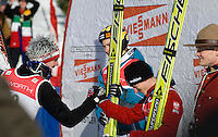 Awards at the World Cup Ski Jumping competition at Whistler Olympic Park on Sunday January 25, 2009