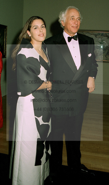 SIR EVELYN DE ROTHSCHILD and his daughter MISS JESSICA DE ROTHSCHILD at a dinner in London on 1st July 1997.LZW 73