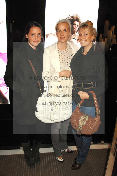 Left to right, INDIA LANGTON, LADY LOUISA COMPTON and OLIVIA BUCKINGHAM at a party to launch jeweller Boodles new store at 178 New Bond Street, London W1 on 26th September 2007.<br />