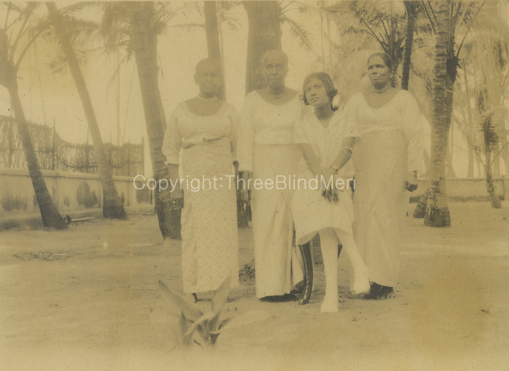 seated- Doreen Pullenayagam nee de Soysa with staff