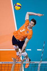 06-01-2020 NED: CEV Tokyo Volleyball European Qualification Men, Berlin<br /> Match Serbia vs. Netherlands 3-0 / Maarten van Garderen #3 of Netherlands