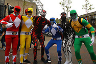 General Fan power rangers fancy dress picture ahead of Widnes Vikings vs Wakefield Trinity during the Betfred Super League match at the Dacia Magic Weekend at St. James's Park, Newcastle<br /> Picture by Stephen Gaunt/Focus Images Ltd +447904 833202