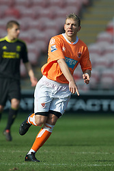 BLACKPOOL, ENGLAND - Wednesday, March 3, 2011: Blackpool's Malaury Martin in action against Liverpool during the FA Premiership Reserves League (Northern Division) match at Bloomfield Road. (Photo by David Rawcliffe/Propaganda)