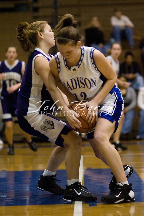 MCHS JV Girls Basketball  .vs Strasburg     .January 11, 2007