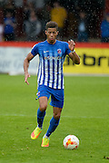 Hartlepool United defender Jake Carroll (3) on the ball during the EFL Sky Bet League 2 match between Stevenage and Hartlepool United at the Lamex Stadium, Stevenage, England on 3 September 2016. Photo by Dennis Goodwin.
