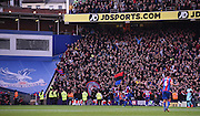 The Holmesdale fanatics errupt as Yohan Cabaye equalises during the Barclays Premier League match between Crystal Palace and West Ham United at Selhurst Park, London, England on 17 October 2015. Photo by Michael Hulf.