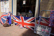 London 19th July 2013: Muslim woman looks out of window as tension mounts outside St Mary's Hospital, Paddington London, where media and royalists await news of Kate, Duchess of Cambridge's impending labour and birth. Some have been camping out for up to two weeks during a UK heatwave, having bagged the best locations where an heir to the British throne will eventually be shown to the world. Copyright Richard Baker/Alamy Live News