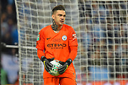 Ederson Moraes (31) of Manchester City during the Carabao Cup Final match between Chelsea and Manchester City at Wembley Stadium, London, England on 24 February 2019.