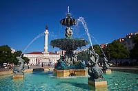 Portugal, Lisbonne, le Rossio ou la Place Dom Pedro IV // Portugal, Lisbon, Rossio square or Dom Pedro IV square