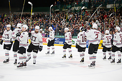 Action from Game 3 of the 2016 MasterCard Memorial Cup between the Red Deer Rebels and Rouyn-Noranda Huskies in Red Deer, AB on Sunday May 22, 2016. Photo by Rob Wallator/CHL Images