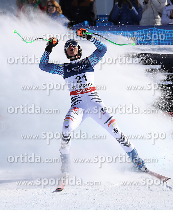 13.02.2017, St. Moritz, SUI, FIS Weltmeisterschaften Ski Alpin, St. Moritz 2017, alpine Kombination, Herren, Abfahrt, im Bild Thomas Dressen (GER) // Thomas Dressen of Germany reacts after his run of downhill for the men's Alpine combination of the FIS Ski World Championships 2017. St. Moritz, Switzerland on 2017/02/13. EXPA Pictures &copy; 2017, PhotoCredit: EXPA/ Sammy Minkoff<br /> <br /> *****ATTENTION - OUT of GER*****