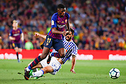 Ousmane Dembélé of FC Barcelona during the Spanish championship La Liga football match between FC Barcelona and Real Sociedad on May 20, 2018 at Camp Nou stadium in Barcelona, Spain - Photo Andres Garcia / Spain ProSportsImages / DPPI / ProSportsImages / DPPI