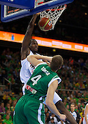 DESCRIZIONE : Kaunas Lithuania Lituania Eurobasket Men 2011 Quarter Final Round Spagna Slovenia Spain Slovenia<br /> GIOCATORE : Serge Ibaka <br /> CATEGORIA : Schiacciata<br /> SQUADRA : Spagna Spain<br /> EVENTO : Eurobasket Men 2011<br /> GARA : Spagna Slovenia Spain Slovenia<br /> DATA : 14/09/2011<br /> SPORT : Pallacanestro <br /> AUTORE : Agenzia Ciamillo-Castoria/T.Wiendesohler<br /> Galleria : Eurobasket Men 2011<br /> Fotonotizia : Kaunas Lithuania Lituania Eurobasket Men 2011 Quarter Final Round Spagna Slovenia Spain Slovenia<br /> Predefinita :