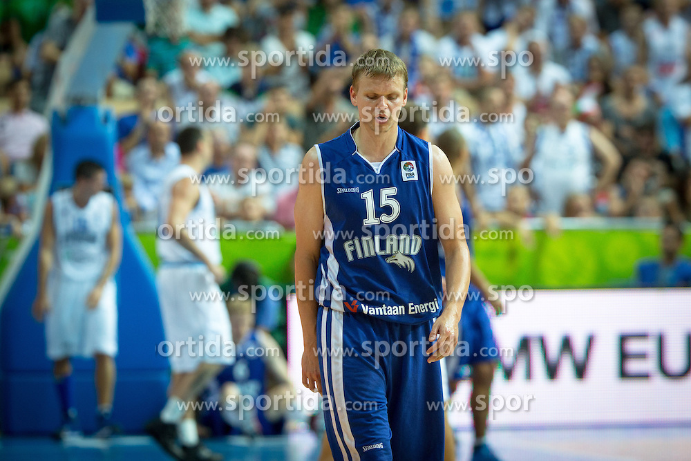 Teemu Rannikko #15 of Finland during basketball match between national team of Italy and Finland of Eurobasket 2013 on September 7, 2013 in Arena Bonifika, Koper, Slovenia. (Photo By Matic Klansek Velej / Sportida.com)