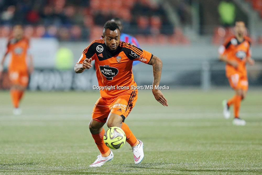 Jordan AYEW  - 14.03.2015 - Lorient / Caen - 29eme journee de Ligue 1<br /> Photo : Vincent Michel / Icon Sport