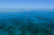 Snorkeling on Agincourt Reef - Great Barrier Reef, Queensland, Australia.