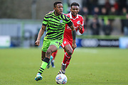 Forest Green Rovers Ebou Adams(14) runs forward during the EFL Sky Bet League 2 match between Forest Green Rovers and Scunthorpe United at the New Lawn, Forest Green, United Kingdom on 7 December 2019.
