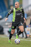 James Vaughan (Bury) runs with the ball during the EFL Sky Bet League 1 match between Oldham Athletic and Bury at Boundary Park, Oldham, England on 11 March 2017. Photo by Mark P Doherty.