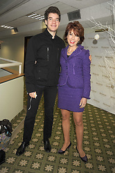Writer KATHY LETTE and her son JULIUS ROBERTSON at the 2008 Hennessy Gold Cup held at Newbury racecourse, Berkshire on 29th November 2008.<br /> <br /> NON EXCLUSIVE - WORLD RIGHTS