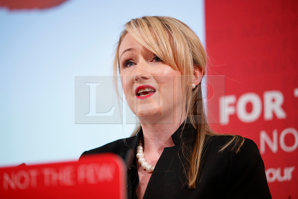 © Licensed to London News Pictures. 19/05/2017. London, UK. Shadow Chancellor John McDonnell and Shadow Business Secretary REBECCA LONG-BAILEY hold a press conference to oppose pledges made in Conservatives manifesto that threatens living standards of pensioners and working people on Friday, 19 May 2017 in central London. Photo credit: Tolga Akmen/LNP