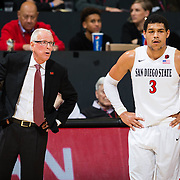 19 February 2017: The San Diego State Aztec's mens basketball team hosts UNLV Sunday afternoon at Viejas Arena. The Aztecs beat the Rebels 77-64. <br /> www.sdsuaztecphotos.com