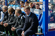 Swansea City Manager Graham Potter during the EFL Sky Bet Championship match between Queens Park Rangers and Swansea City at the Loftus Road Stadium, London, England on 13 April 2019.