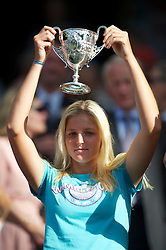 LONDON, ENGLAND - Saturday, July 3rd, 2010: Kristyna Pliskova (CZE) celebrates with the trophy after winning the Girls' Singles Final 6-3, 4-6, 6-4 on day twelve of the Wimbledon Lawn Tennis Championships at the All England Lawn Tennis and Croquet Club. (Pic by David Rawcliffe/Propaganda)
