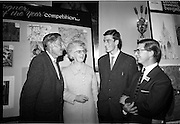 "28/06/1967<br /> 06/28/1967<br /> 28 June 1967<br /> Presentation of prizes at Navan Carpets ""Young Designer of the Year"" reception in the Royal Hibernian Hotel, Dublin. Image shows (l-r):Mr. Michael Bourke, Principal of the National College of Art; Mrs C. Duane; Joseph Duane (prizewinner), Co. Galway and Mr. Wilson, Navan Carpets Ltd at the reception."